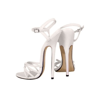 6 3/10'' High Heel Patent Ankle Straps Sandals #06180020279