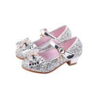 Flower Girl Shoes Silver Sequined Cloth Upper Party Shoes Kids Pageant Shoes Popular #08380928694