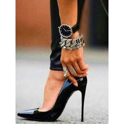 Black Sexy High Heels Pointed Toe Stiletto Heel Pumps for Women #23600731058