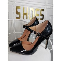Plus Size High Heels For Women Pointed Toe Stiletto Heel Fashion Black Mary Jane Heels The Best Brand #23600939162