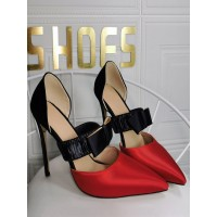 Plus Size High Heels For Women Pointed Toe Stiletto Heel Fashion Red Mary Jane Heels Selling Well #23600939182