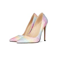 Women's Glitter High Heels Pointed Toe Stiletto Heel Sexy Pumps Evening Shoes Fitted #23600921668