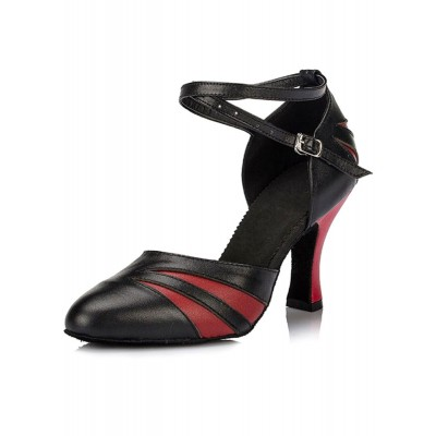 Ballroom Dance Shoes 2021 Women Ankle Strap Pointed Toe High Heel Dance Shoes wholesale #17020619569