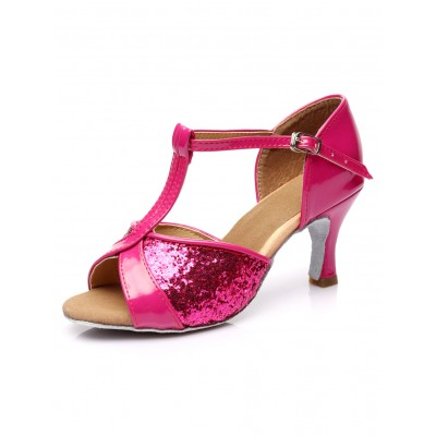 Gold Ankle Strap Glitter Ballroom Shoes for Women Fashion #17020566813