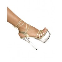 Gorgeous Gold Patent Upper Glitter Open Toe Sexy Sandals For Woman Stripper Shoes The Top Selling #12400352858