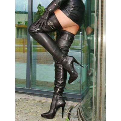 Black Sexy Boots Women Pointed Toe High Heel Over The Knee Boots Thigh High Boots Stripper Shoes Selling Well #12420829836
