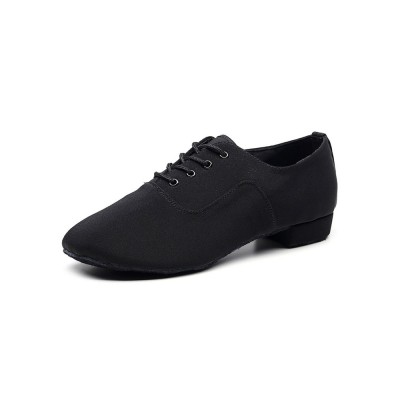 Latin Dance Shoes Black Round Toe Ballroom Dance Patched Shoes Selling Well #17020921664