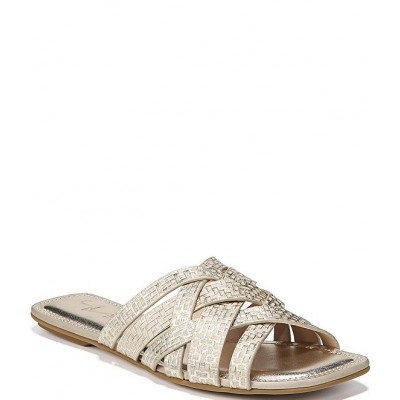 Women 27 EDIT Naturalizer Zoie Square Toe Printed Metallic Woven Leather Banded Sandals Naturalizer Casual EDSTWJZ