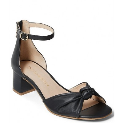 Women Abigail Leather Knotted Ankle Strap Block Heel Sandals Jack Rogers Lowest Price APMHMVE