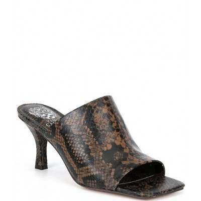 Women Arlinala Snake Print Square Toe Leather Mules Vince Camuto ONVKMCL