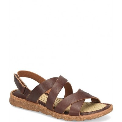 Women Bekka Strappy Leather Sandals Born Collection NIFSLCY