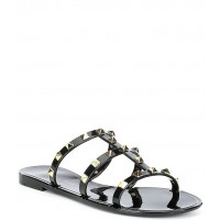 Women Tiphany Triple Band Studded Jelly Slides Gianni Bini in style CTYEXXB