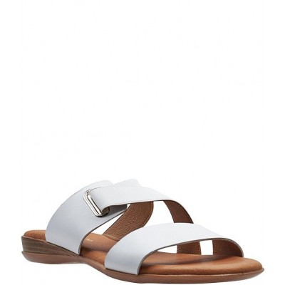 Women Alima Featherweights™ Leather Elastic Slide Sandals Andre Assous ZZIFSCO