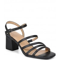 Women RSVP Collection Naturalizer Niko Strappy Leather Square Toe Dress Sandals Naturalizer outlet ZOBPSTY