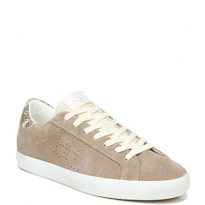 Women Aubrie Double E Perforated Suede Snake Print Sneakers Sam Edelman WRYVIQF