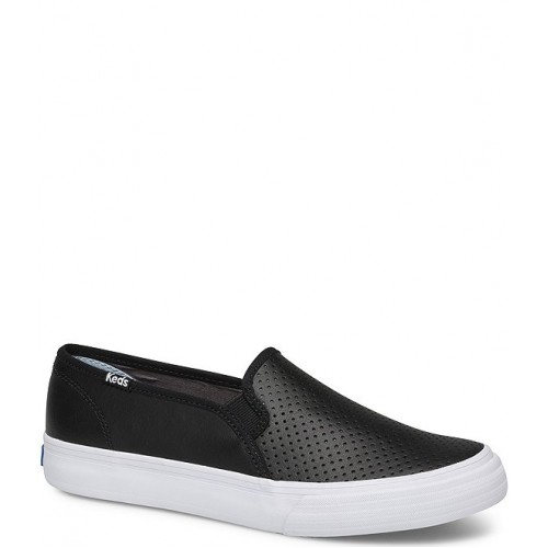 Women Double Decker Perforated Leather Slip On Sneakers Keds sale online OQPYZUF