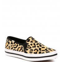 Women Keds x kate spade new york Double Decker Leopard Printed Calf Hair Pony Sneakers Keds Trends 2021 QETHAVT