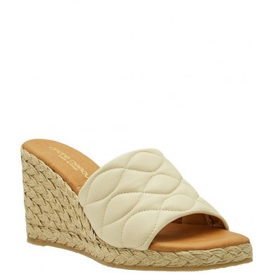 Women Analise Quilted Leather Espadrille Slides Andre Assous 2021 IXOAOZU