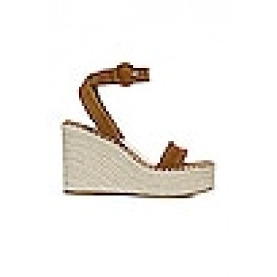 Veronica Beard Rilla Wedge Sandal in Cuoio Women Fitted FYGHXCA